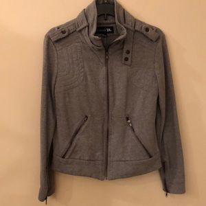 Forever 21 gray zip long sleeve jacket size M